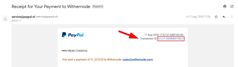 How to Find Your PayPal Transaction ID - Knowledgebase - Withernode